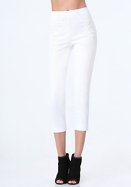 Petite Skinny Crop Pants at bebe