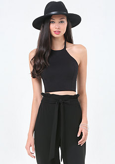 Ponte Halter Crop Top