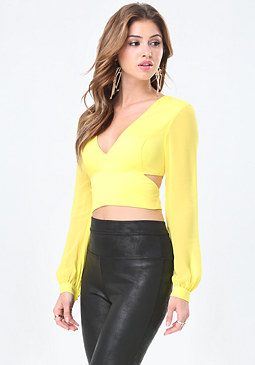 bebe Marissa Cutout Crop Top