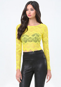 bebe Irena Lace Top