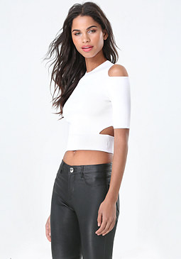 bebe Cutout Sweater