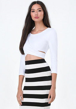 bebe Double Wrap Crop Top