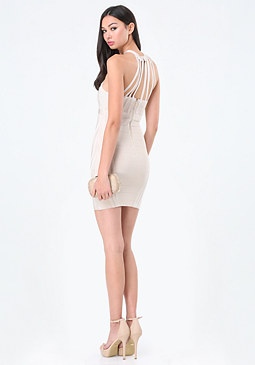 bebe Natalie Strap Bandage Dress