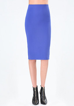 bebe Ribbed Knit Midi Skirt