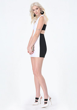 bebe Colorblock Side Band Dress