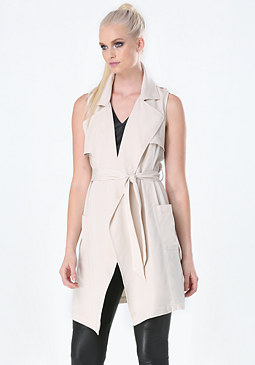 bebe Soft Sleeveless Trench Coat