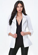 bebe Flirty Zip Trench Coat