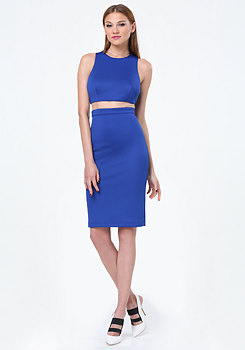 bebe Scuba Faux 2-Piece Dress