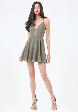 bebe Crossback Skater Dress