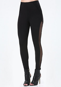 bebe Mesh Inset Leggings