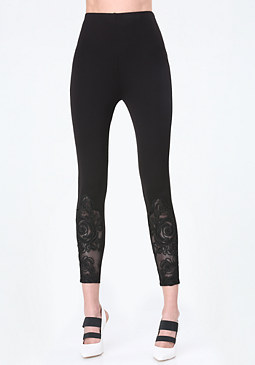 bebe Rose Detail Leggings