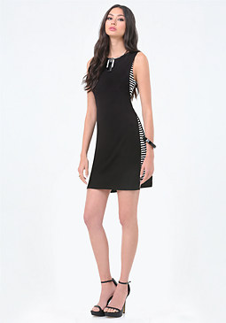 bebe Double Layer Tunic Dress