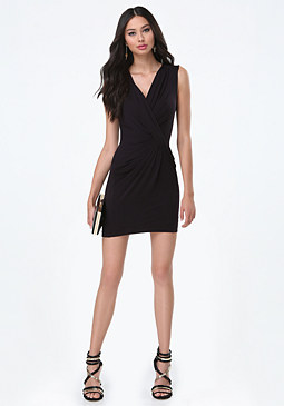 bebe Giselle Drape Front Dress