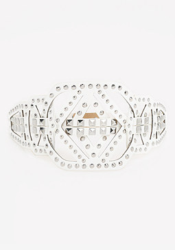 bebe Studded Cutout Belt