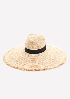 Raw Edge Floppy Hat