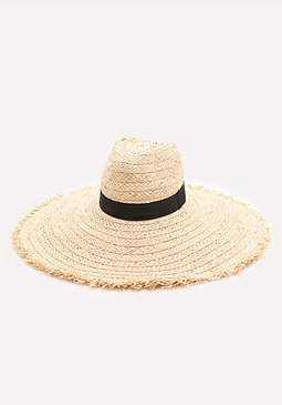 bebe Raw Edge Floppy Hat