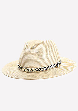 bebe Braid Trim Panama Hat