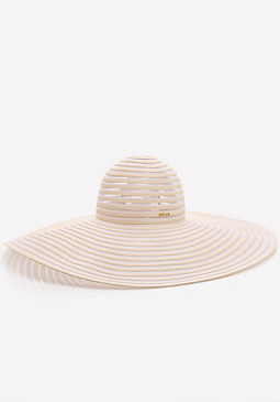 bebe Striped Organza Floppy Hat