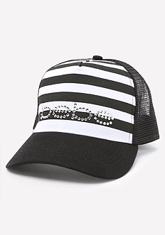 Logo Striped Baseball Cap