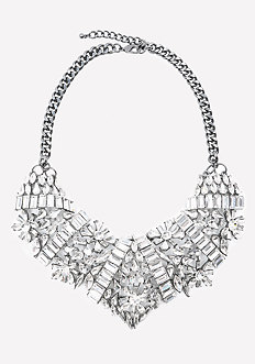 Lavish Crystal Bib Necklace