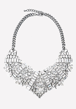 bebe Lavish Crystal Bib Necklace