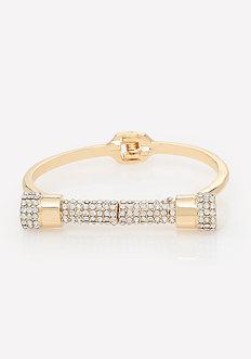 Pave Bar Hinge Bracelet