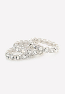 bebe Glam Stretch Bracelet Set