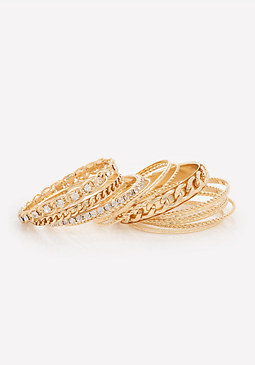 bebe Chainlink Bangle Set