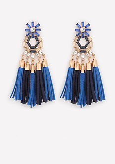 Faux Suede Tassel Earrings