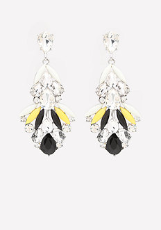 Crystal & Petal Earrings
