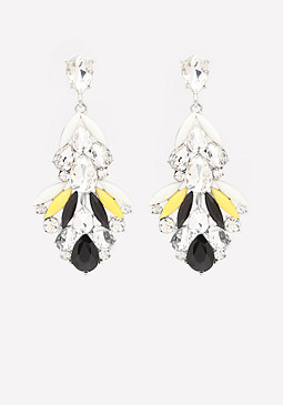 bebe Crystal & Petal Earrings