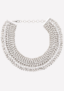 bebe Woven Chain Necklace