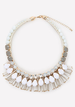 bebe Bead & Crystal Necklace
