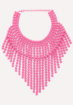 bebe Neon Fringe Necklace