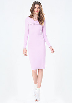 Logo Double V Midi Dress
