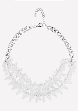 bebe Lucite Bead Necklace