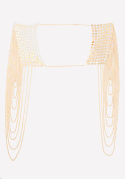 bebe Dramatic Draped Body Chain
