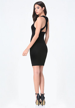 bebe Logo Crossback Short Dress