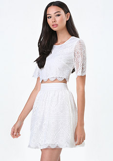 Maggie Lace Crop Top