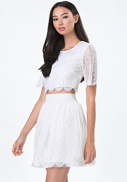 bebe Maggie Lace Crop Top