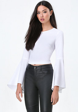 bebe Bell Sleeve Top