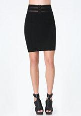bebe Corset Waist Skirt