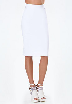 Mesh Inset Midi Skirt