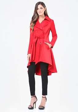 bebe Hi-Lo Trench Coat