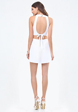 bebe Cutout Back A-Line Dress