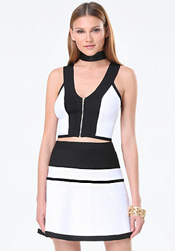 bebe Colorblock Bandage Top