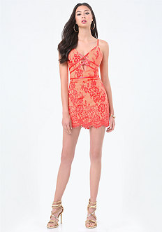 Lace Crisscross Dress