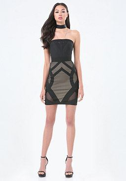 bebe Crisscross Banded Dress