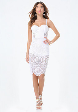 bebe Lace Bustier Dress
