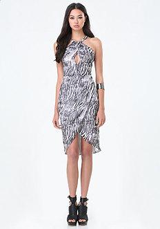 Petite Wrap Hem Dress